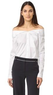 Рубашка на пуговицах Notched с открытыми плечами Tibi
