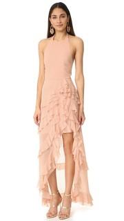 Асимметричное вечернее платье Carma с оборками Alice + Olivia