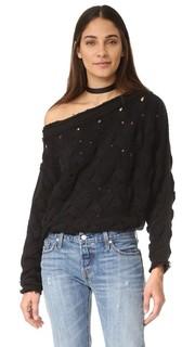 Пуловер с косичками Desert Sands Free People