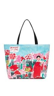 Объемная сумка с короткими ручками Rose Scene Hallie Kate Spade New York
