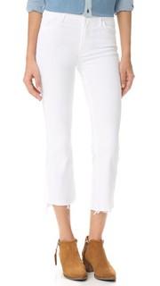 Укороченные потрепанные джинсы Insider с заниженным шаговым швом Mother