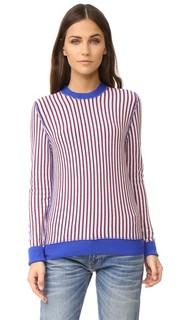 Облегающий свитер с округлым вырезом Raquel Allegra