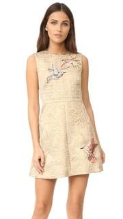Платье из жаккарда с вышивкой RED Valentino