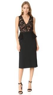 Платье с баской и V-образным вырезом Tome