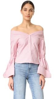Блуза с открытыми плечами Jacquemus