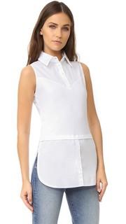 Рубашка без рукавов с удлиненным сзади низом Skinnyshirt