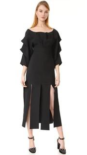 Платье с драпированными рукавами A.W.A.K.E.
