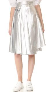 Асимметричная юбка с принтом A.W.A.K.E.