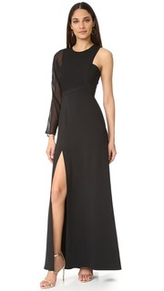 Вечернее платье с открытым плечом Bcbgmaxazria