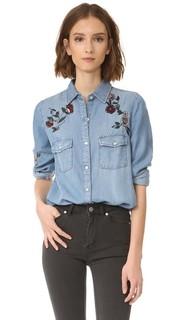 Рубашка Trent с цветочной вышивкой BB Dakota
