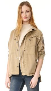 Жакет-рубашка в стиле милитари с декоративной отделкой Free People