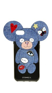 Чехол Teddy Jeans с нашивками для iPhone 7 Iphoria