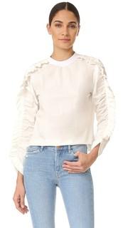 Блуза с оборками и длинными рукавами Msgm