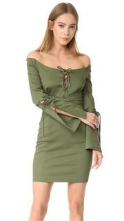Кружевное платье N/Nicholas Drill с шнуровкой