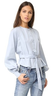 Блуза с ткани в рубчик с декоративной отделкой See by Chloe
