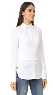 Рубашка с французскими манжетами, длинными рукавами и шлейфами Skinnyshirt