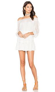 Smocked ruffle mini dress - LoveShackFancy