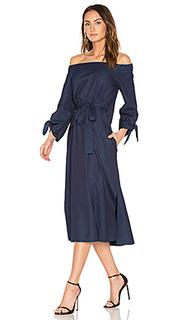 Off shoulder belted midi dress - Tibi