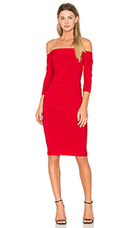 Off shoulder shirred dress - Norma Kamali