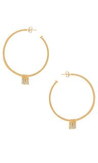 Серьги-кольца manhattan - Natalie B Jewelry