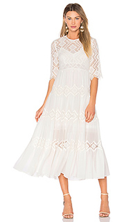 Oleander diamond lace tier dress - Zimmermann