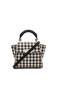 Eartha iconic mini gingham straw top handle - Zac Zac Posen