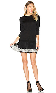 Long sleeve tulle mini dress - Red Valentino