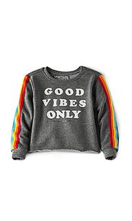 Укороченный свитшот good vibes only - Spiritual Gangster