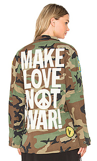 Куртка make love not war - Madeworn