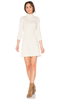 Rib funnel neck dress - MINKPINK