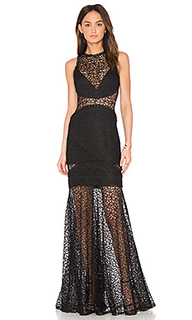 Lace cutaway gown - NICHOLAS