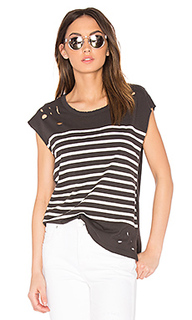 Distressed stripe tee - SUNDRY