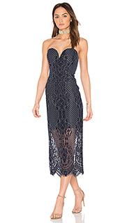 Миди платье с вшитым бюстье - Shona Joy