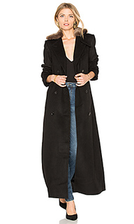 Vinnie duster overcoat with faux fur trim - Capulet