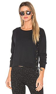 Lace up crop sweatshirt - Ragdoll