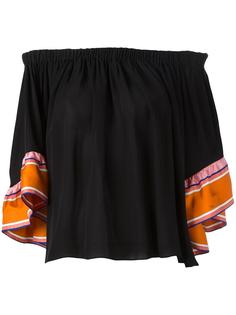 блузка с открытыми плечами Emilio Pucci