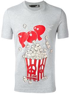 футболка с принтом попкорна Love Moschino