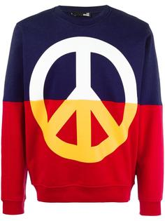 peace symbol print sweatshirt  Love Moschino