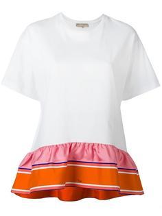футболка с рюшами  Emilio Pucci