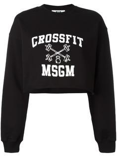 удлиненная толстовка с логотипом MSGM