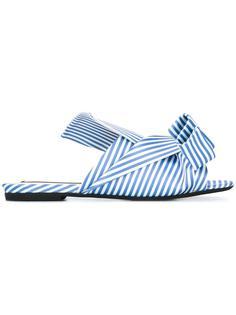 полосатые сандалии с бантом Nº21