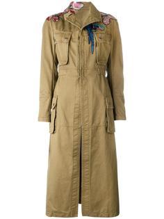 пальто с нашивками Valentino
