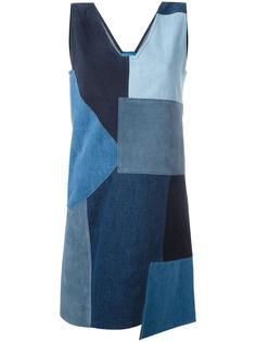джинсовое лоскутное платье Marten  Mih Jeans