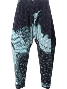 abstract print drop-crotch trousers Homme Plissé Issey Miyake