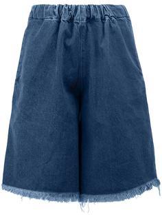 джинсовые шорты с необработанными краями Marquesalmeida