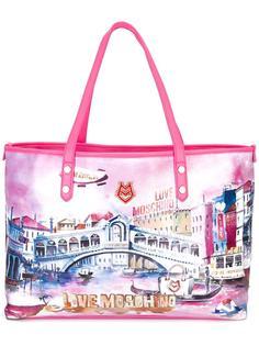 сумка-тоут с принтом Love Moschino