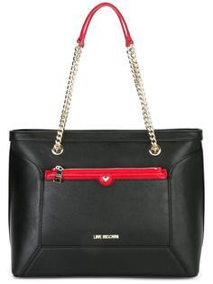 сумка-тоут на цепочке Love Moschino