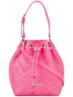 сумка-мешок на плечо с тисненым логотипом Love Moschino