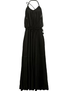 платье макси со складками Ann Demeulemeester