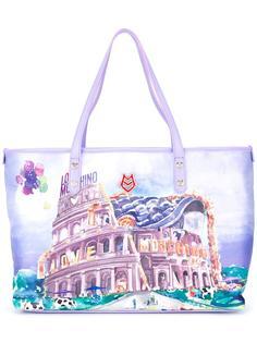 сумка-тоут с принтом Colosseum Love Moschino